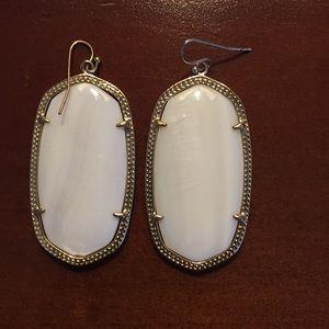 Kendra Scott Large White Earring